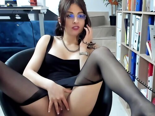 Black Wolford Pantyhose In The Office