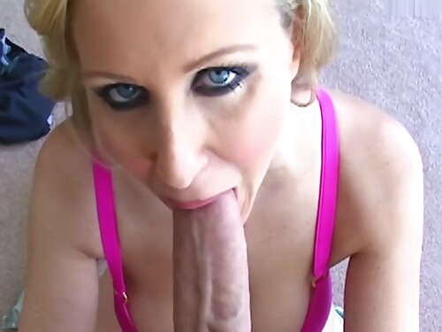 Huge Tit Blonde Milf Gets Titty Fucked And Facialed