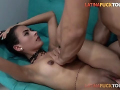 Petite Latina Bombshell Gets Packed Up By Fat Shaft