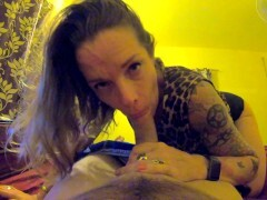 STEPMOM POV BLOWJOB, FACEFUCK & Facehole CREAMPIE AFTER SHE CAUGHT STEPSON JERKING OFF