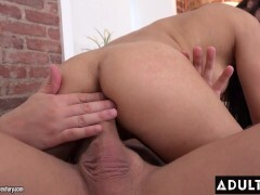 Sexy Brown-haired Easily Satisfied With Rough Anal Fuckfest Sesh