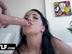 Blue Eyed Mature Fuckslut In Lingerie Marie Symone Takes Cock Deep Down Her Gullet