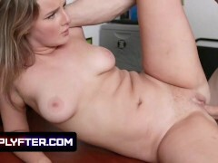 Lovely Ass Teenager Eliza Eves Lets The Mall Cop Cover Her Perky Tits With Cum