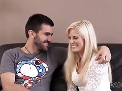 DADDY4K Lovely blond ultimately tries lovemaking with more sweetheart partner
