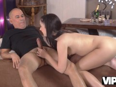 VIP4K Old guy idolizes vagina of cute Girlfriend before they have shafts affair