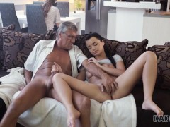 DADDY4K Thirsty belle poked with old cock belonging to BFs daddy