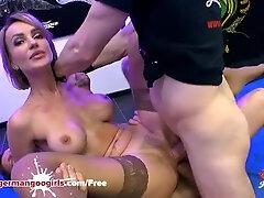 Girl-slobber Honey Elen Million Dual Ravaged by Monster Cocks - German Goo Squealing