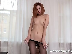 Torn Stockings - Solo Assfuck and More