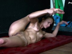 Best nude gymnastics and spreads from Christina