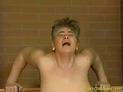 Crazy old mother gets my fat hard-on