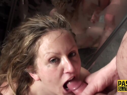 Anally Banged Submissive Milf Gets Cum