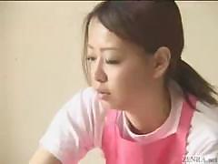 Japanese caregiver gives hand job and more