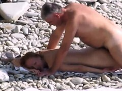 Youthful naturist wife nailed by fat spouse
