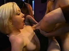Stunning gals enjoy to give indecent deepthroat squad nail